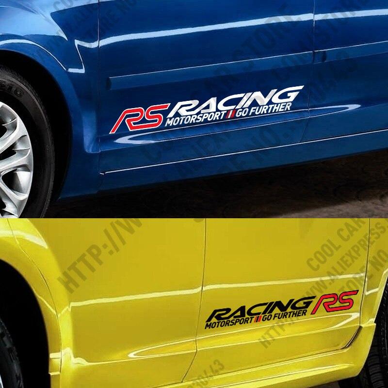10 Pairs RS RACING SPORT Car-Styling Door sticker FORD FOCUS 2 focus 3 Mondeo Fiesta Kuga MK2 MK3  -  Sticker Factory Store store