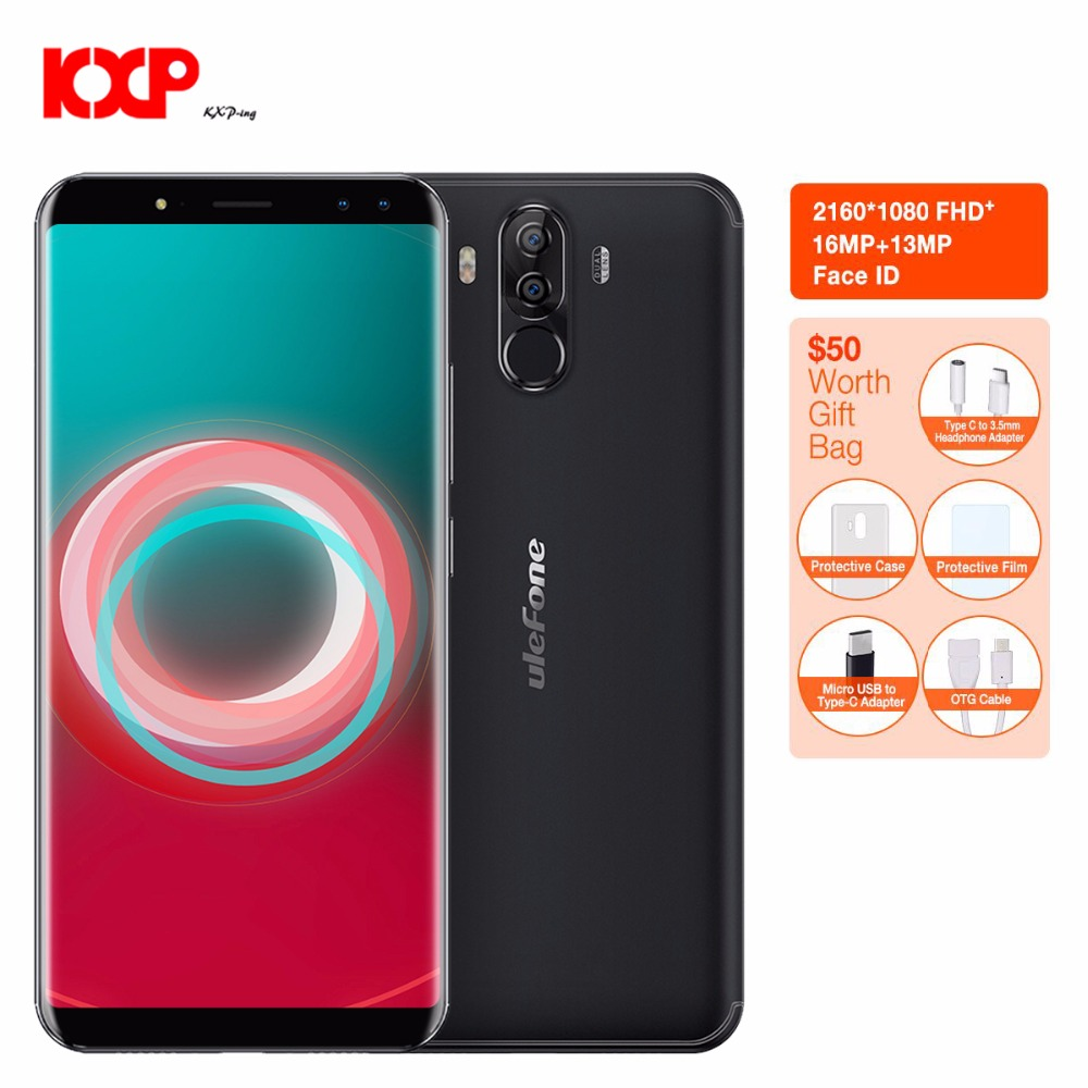 Ulefone Power 3S 4G Phablet Android 7.1 6.0 inch MTK6763 Octa Core 2.0GHz 4GB RAM 64GB ROM Quad Cameras Type-C Glass 4