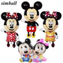 Giant Bowknot Mickey Minnie Mouse Balloons Cartoon Foil Birthday Party Supplies Decoration Balloon Baby Shower Boy Girl Big Toys(China)