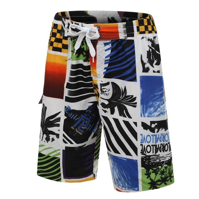 Men's Shorts Mens Summer Boardshorts casual shorts 2016 Quick Dry Bermuda Silver Free Shipping