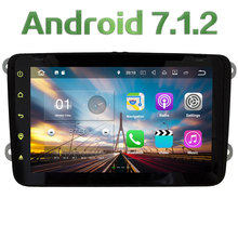 "2GB RAM Quad Core 8"" Android 7.1 Car DVD Player Radio for VW Octavia II/III Fabia SUPERB Beetle CC Polo Jetta Golf Eos Caddy CC"