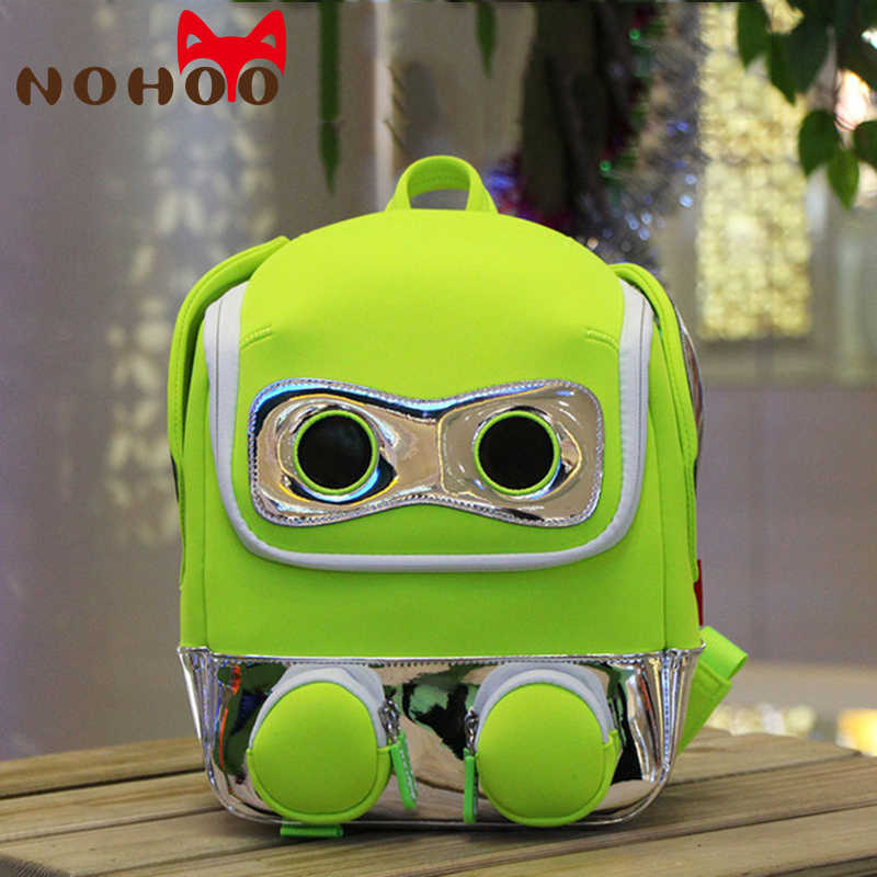 NOHOO Kids Toddler Backpack Child Cute Waterproof 3D Cartoon Robot School  Bag Preschool Kindergarten for Boys