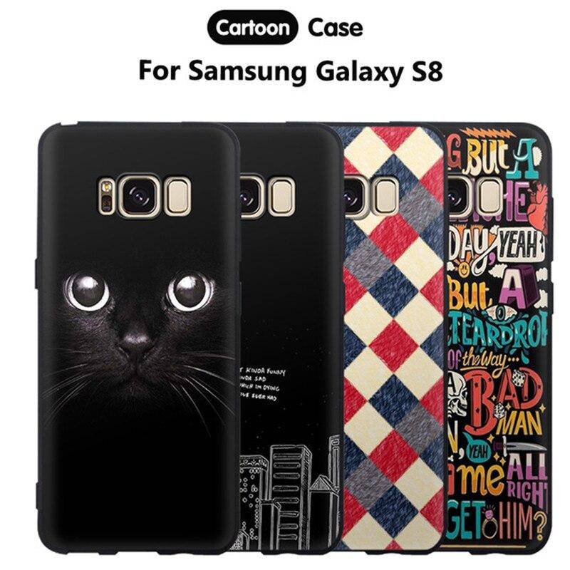 Gboze Телефон чехол для <font><b>Samsung</b></font> <font><b>Galaxy</b></font> <font><b>S8</b></font> крышка Роскошные Силиконовые 3D милый мультфильм Мягкие TPU принципиально для <font><b>Samsung</b></font> <font><b>Galaxy</b></font> <font><b>S8</b></font> s 8 задняя