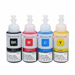 На основе красителя на основе OEM пополнения чернил для Epson L100 L110 L120 L132 L210 L222 L300 L312 L355 L350 L362 L366 L550 L555 L566 принтер
