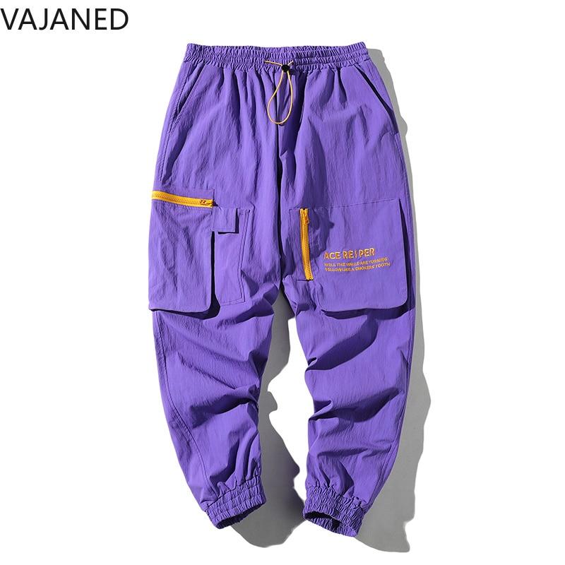 Alto Los Bordado Estilo Elástico Bolsillo Hombres Pantalones Calle Personalidad Vendaje Cremallera Negro Con De Vajaned Casuales púrpura Sueltos Nueva Carta 2019 qTxX7tA