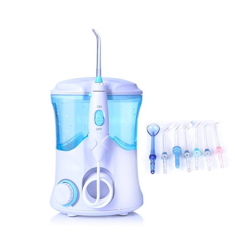 TINTON VITA FC-169 FDA Acqua Flosser Con 7 Punte Elettrico Irrigatore Orale Flosser Dentale 600 ml Capacità di Igiene Orale Per famiglia