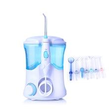 TINTON LIFE FC 169 FDA Flosser irygator wodny z 7 końcówkami elektryczny irygator do jamy ustnej nić dentystyczna 600ml pojemność higiena jamy ustnej dla rodziny