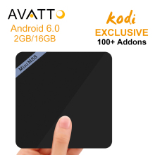 [AVATTO] 2016 Nouveau Mini M8S II Android 6.0 Amlogic S905x Smart TV boîte Quad Core 2 GB/16 GB Préinstaller Kodi16.1 4 K H.265 Set Top Box