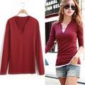 Autumn women 's leisure are all milk silk    long - sleeved T - shirt women pure color velvet primer shirt do282