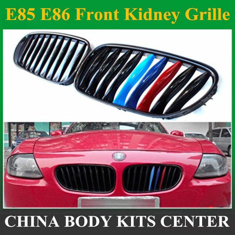 Grille de calandre avant noire de couleur M pour BMW E85 E86 Z4 2003-2008 treillis de voiture de Coupe Convertible
