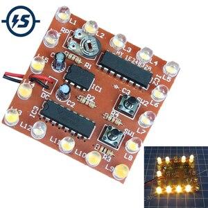 DIY Kit Electronic NE555 + 74HC595 16 бит 16 каналов, светильник, вода, плавные огни светильник s светодиодный модуль, комплект, светильник для бега, Сварочная ...