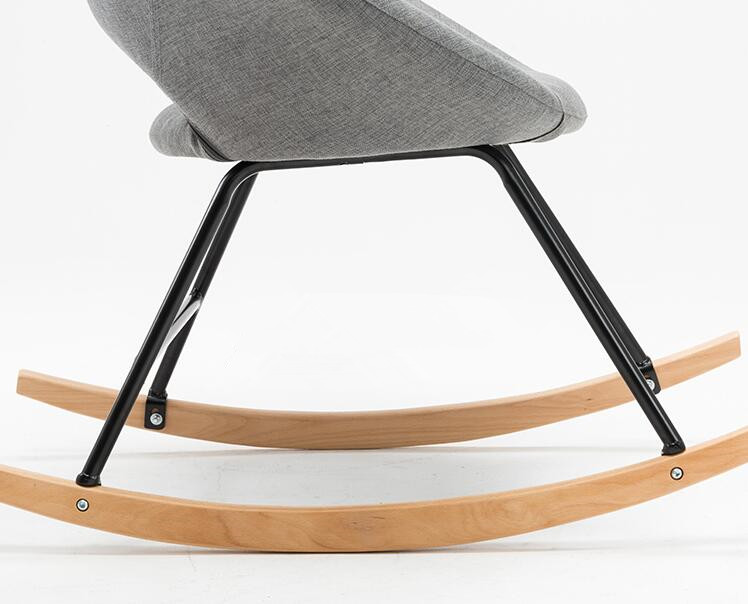 Modern Scandinavian Rocking Chair Natural Wood And Fabric Upholstery Seat  Living Room Furniture Hammock Chair Rocker Armchair In Living Room Chairs  From ...