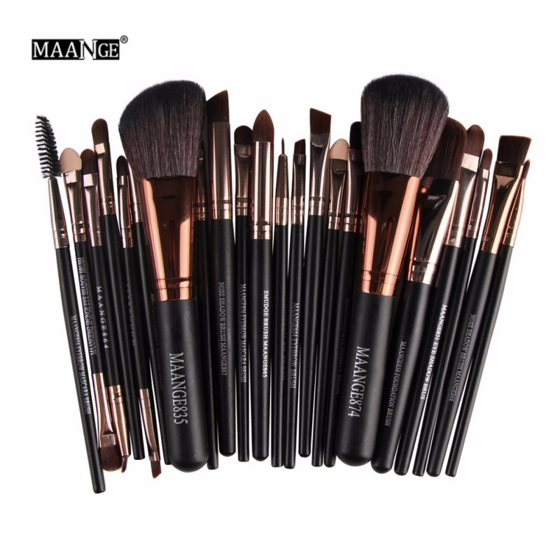 Nuevo Pro 22 piezas pinceles de maquillaje cosmético Bulsh en polvo Fundación sombra delineador de ojos labios cepillo herramientas de belleza, Maquiagem