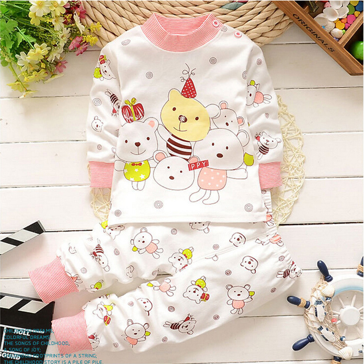 HTB1qDINpH1YBuNjSszeq6yblFXao - Children Clothes 2017 Winter baby Girls boys Clothes Set cottot T-shirt+Pants newborn suit Kids Girl Clothing Set