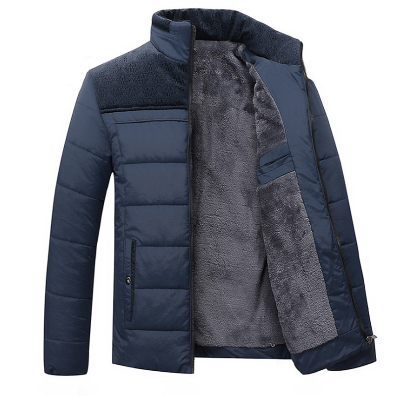 Varsanol coton Parkas hommes à manches longues couture solide chaud épais manteau veste d'hiver hommes Parka vêtements veste décontractée nouveau 2018