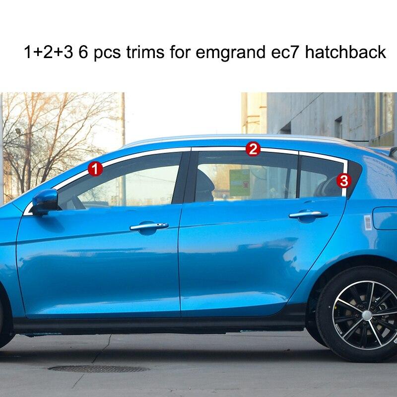 lsrtw2017 304 stainless steel car window trims for geely emgrand ec7 2014 2015 2016 2017 2018 коврик в багажник geely emgrand ec7 rv 2011