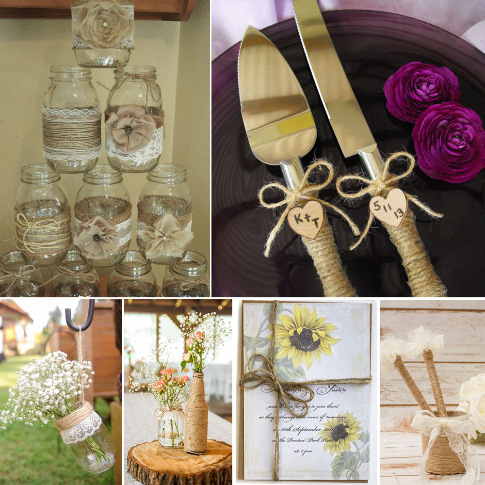 Great Ways To Use Burlap In Home Decor: 10 Meters / 33ft New Arrival Vintage 2mm Natural Hessian