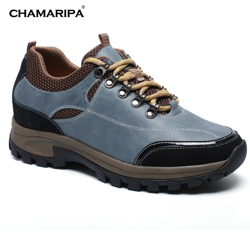 CHAMARIPA Increase Height 7cm/2.76 inch Taller Elevator Shoes Men Slip woodland shoe Height Increasing Shoes Hidden Wedge Heels  chamaripa increase height 7cm 2 76 inch taller elevator shoes black mens leather summer sandals height increasing shoes