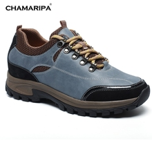 CHAMARIPA Increase Height 7cm/2.76 inch Taller Elevator Shoes Men Slip woodland shoe Height Increasing Shoes Hidden Wedge Heels