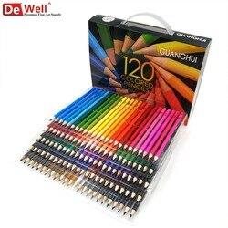 Professional Wooden 120/136 Colour Pencils Set Lapis De Cor 120 Unique Colors Oily Colored Pencils Set for Adult Coloring Books