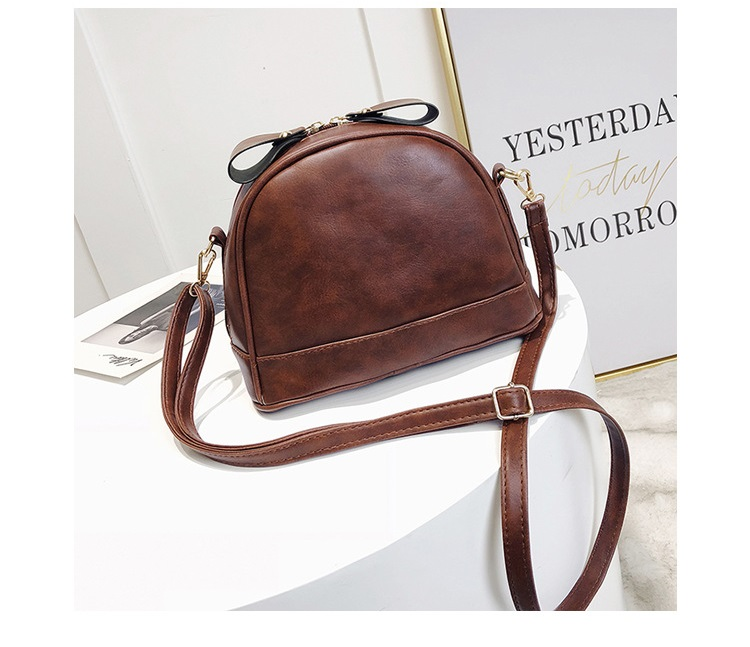 ebf15b4610 ... MJ Women Leather Messenger Bag Female Retro PU Shoulder Crossbody Bag  Small Leather Handbag Cute Bags ...