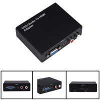 Newest Best Price VGA R L Audio To HDMI Video Converter Adapter Component Composite US Plug