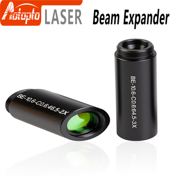 CO2 laser 10600nm Laser Beam Expander 1.5X 2X 2.5X 3X 4X Galvanometer Laser Marking Lenses Optics Beam Expand for laser marking 1064nm laser expander 3time 4time 5time 8times input beam max 12mm output 30mm outside diameter 34mm length 77mm