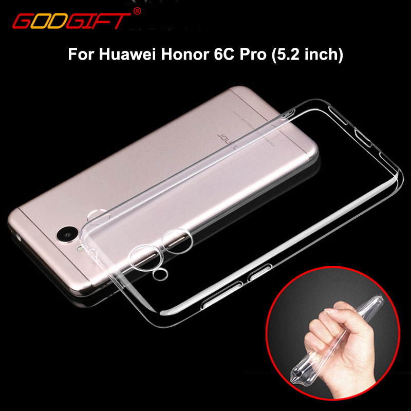 GodGift For Huawei Honor 6C Pro Case 5.2 inch Luxury Shockproof Soft Cover For Huawei Honor 6 C Pro Case Transparent Honor6C Pro