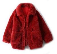 2018 Winter Short Women's Winter Coat Lambswool mouton Coat Jacket Fur Coat For Woman real fur women's fur coats YH170