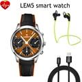 Lemfo lem5 android 5.1 os pantalla smart watch 1.39 pulgadas mtk6580 1 GB/8 GB Apoyo Smartwatch 3G WiFi GPS de la Tarjeta SIM Nano bluetooth