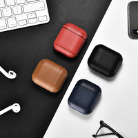 Leather Earphone Case For Apple Airpods Accessories Dust proof Retro Bluetooth Airpod Cover Wireless Headphone Case Waterproof