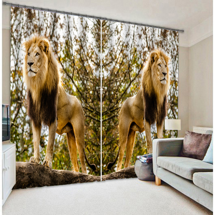 Domineering King Of The Jungle Lion Photo Printing 3d