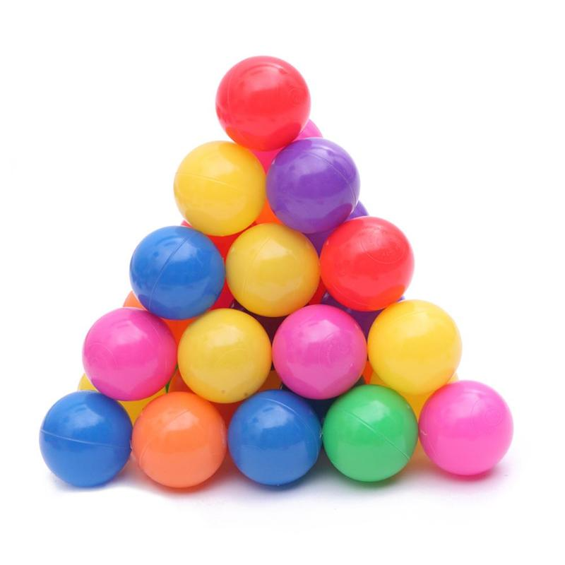 200 pièces 5.5 cm Fun en plastique souple océan balle nager Pit jouets bébé enfants jouets non-toxique pas d'odeur pour intérieur ou extérieur coloré