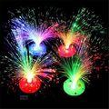 Bela Romântico Color Changing LED Fibra Óptica Night Light Lamp Decoração Estande Colorido Crianças Xmas Veilleuse Luces Decorativa