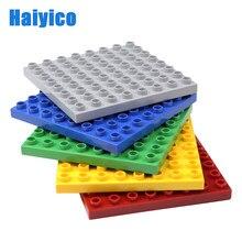 64 buracos tijolos baseplate grandes blocos de construção compatível com tijolos conjunto acessórios 8*8 pontos criatividade básica brinquedos presente das crianças