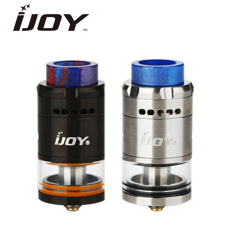 Original IJOY RDTA 5 Tank 4ml Capacity Single Coil Build Available E-cig RTA Atomizer IJOY Vape Tank with Resin Drip Tip original wotofo serpent rdta rta tank 2 5ml capacity top filling rebuildable tank atomizer clamped build deck e cig rdta atomize