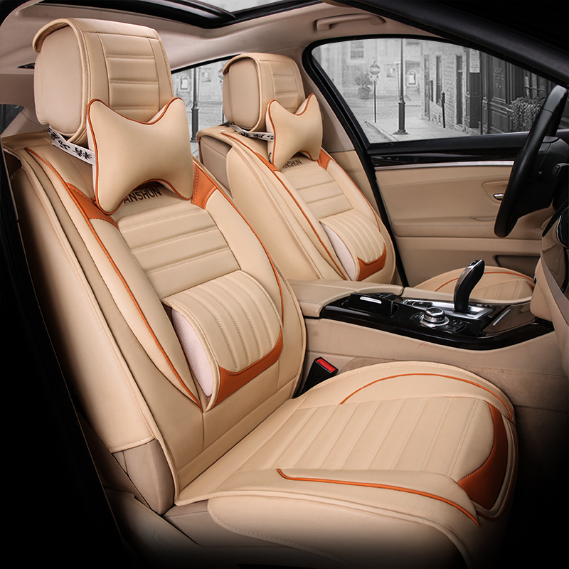 5 seats Whole font b car b font seat cushion full cushion font b car b