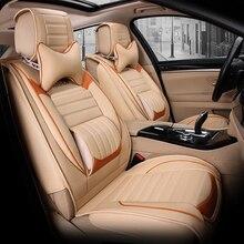 5 asientos cojín del asiento de coche Entero lleno cojín del asiento de coche cubierta del coche cubre accesorios de auto cubierta Del Coche de cuero