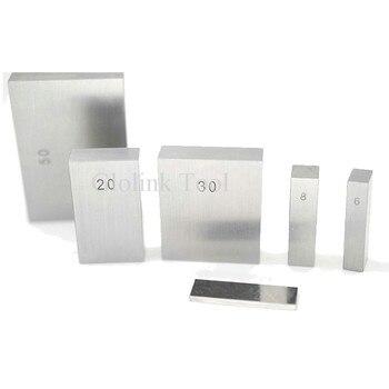 Bloco quadrado de aço 10mm, 20mm, 30mm, 40mm, 50mm bloco quadrado de aço do calibre do bloco do gage da medida do bloco de aço
