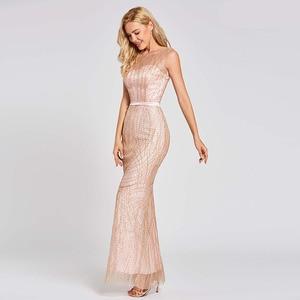 Image 2 - Dressvสีชมพูยาวทรัมเป็ตชุดราตรีBacklessราคาถูกScoopคอลูกไม้ชุดแต่งงานชุดMermaid Evening Dresses