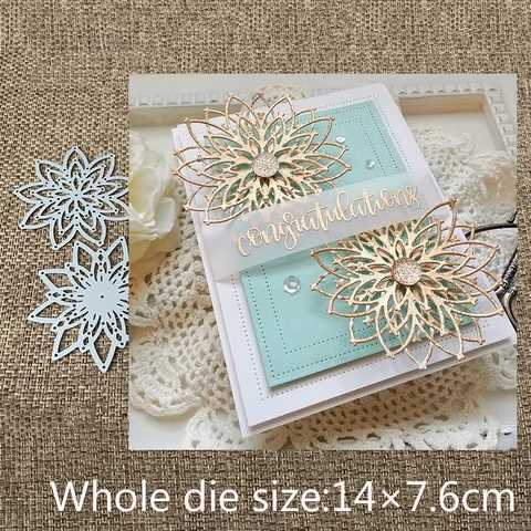 Layers Hollow Flower Lace Metal Cutting Dies DIY Etched Dies Craft Paper Card Making Scrapbooking Embossing