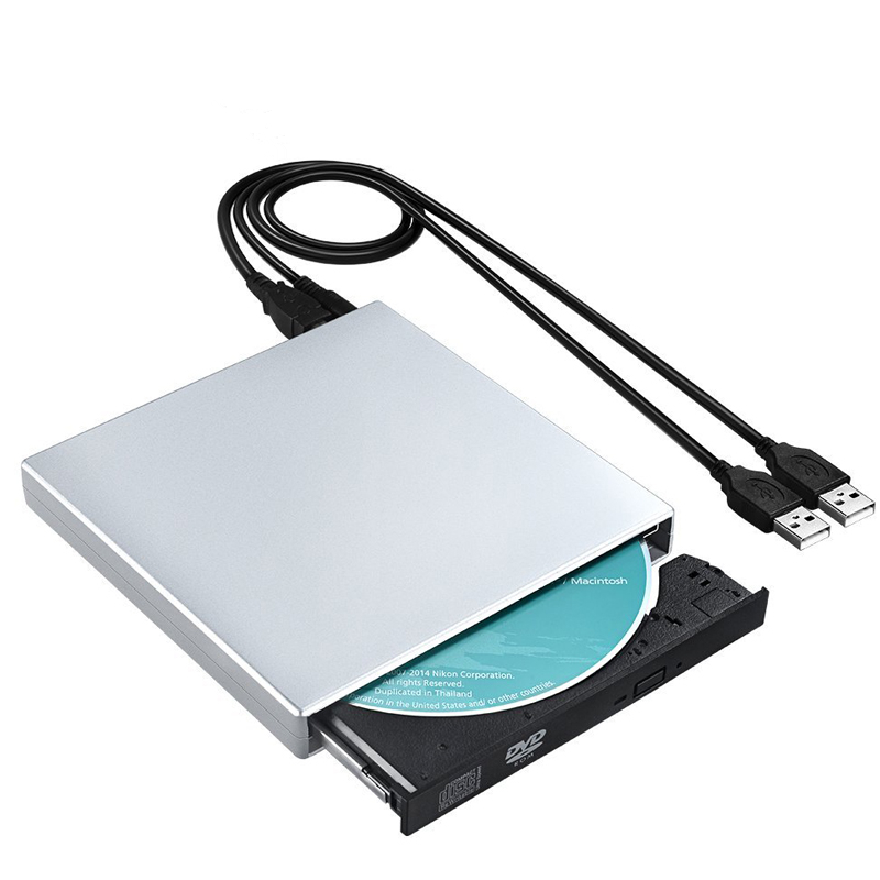 RW DVD-ROM USB 2.0 CD-ROM player External DVD Optical Drive Recorder for Laptop Computer Pc Windows 7/8