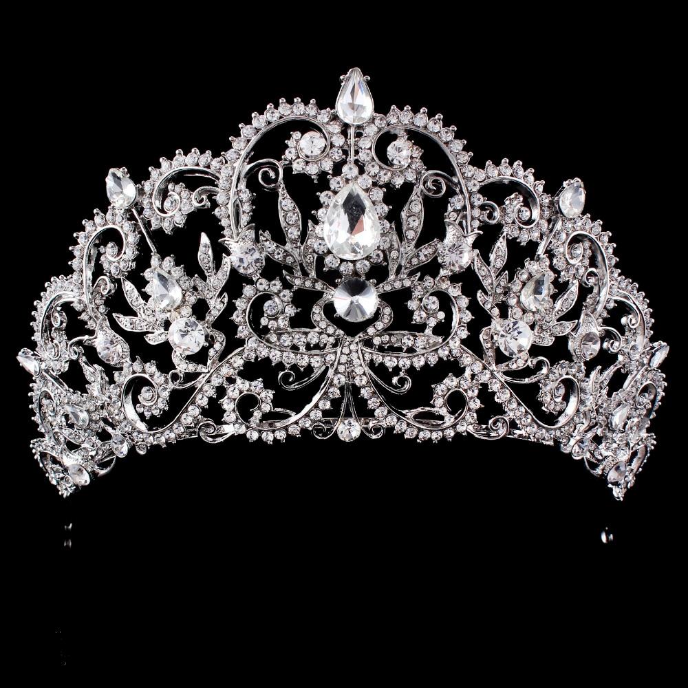 Wedding Tiara Crown Queen women Bridal hair accessories Headpiece Hair Jewelry Bride Accessories headband