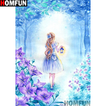 HOMFUN Full Square/Round Drill 5D DIY Diamond Painting Flower beauty 3D Embroidery Cross Stitch 5D Home Decor Gift A13262 homfun full square round drill 5d diy diamond painting beauty flower embroidery cross stitch 3d home decor gift a13396
