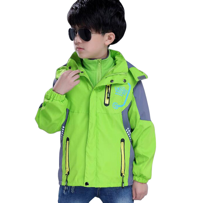 Kids Winter Jacket For Boys Outdoor Thick Warm Coat Children Autumn Sport Boys Outerwear Kids Jacket Hiking Climbing