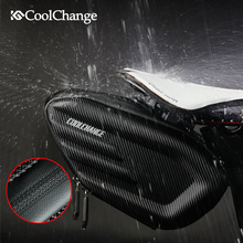 CoolChange EVA Bicycle Saddle Bag Waterproof MTB Bike Rear Reflective Cycling Seat Tail Large Accessories