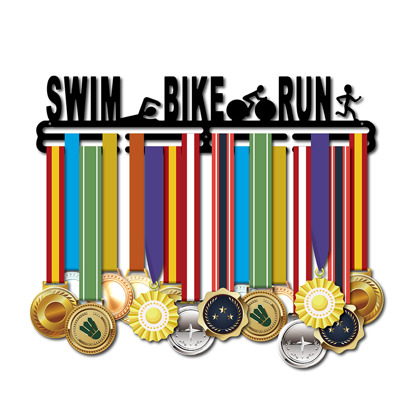 Medal hanger for Swim Bike Run Sport medal hanger triathlon medal holder Medal display rack