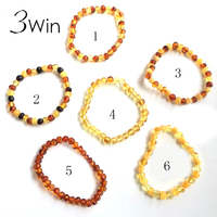 7 Colors New Amber Jewelry Gifts Stretch Bracelet Amber Bead Certificate Genuine Baltic Natural Amber Bracelet