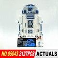 Nuevo 2127 unids Lepin 05043 Serie Guerra de las Galaxias R2-D2 robot Bloques de Construcción Ladrillos Modelo Juguetes 10225 Niños Regalos