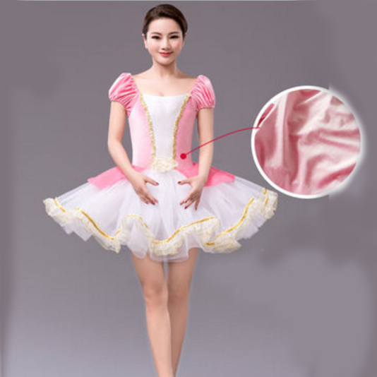 Adult Girls Pink Inflatable Ballet Costume Classic ...